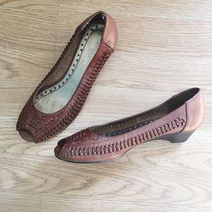 2/$10 Covington Peep-Toe Flat
